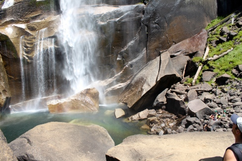 The emerald pool at the bottom of Vernal Falls