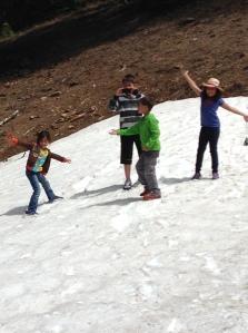 Snow fun at Crater Lake