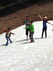 Snow fun at Crater Lake
