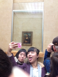 Selfies with the Mona Lisa